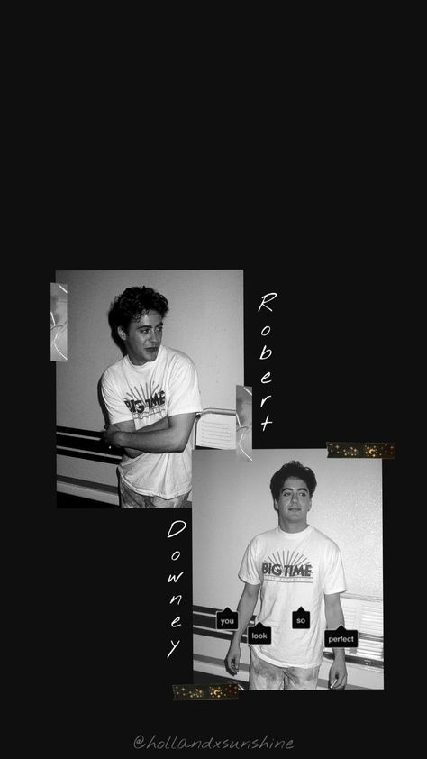 Robert Downey jr. black aesthetic 🖤