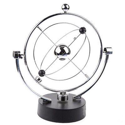 Magnetic Balance Kinetic Orbital Desk Decoration Silver Blgt Desk Decor Decor Mobile Sculpture