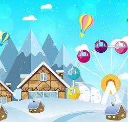 خلفية متحركة عن بيت الثلج الجميل في فصل الشتاء و عجلة فيريس In 2021 Button Crafts Crafts Outdoor Decor
