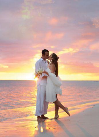 Sunset Beach Wedding With Images Sunset Beach Weddings