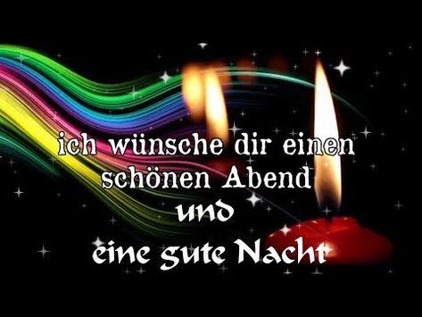 Youtube Gute Nacht Grüße Gute Nacht Und Guten Abend Grüße