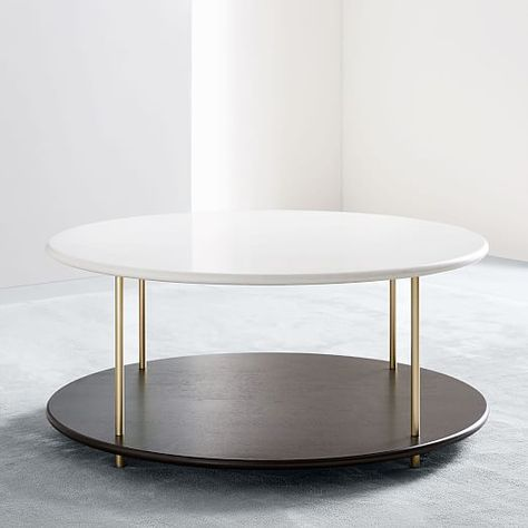 Tiered Quartz Coffee Table Table Interior Design Principles