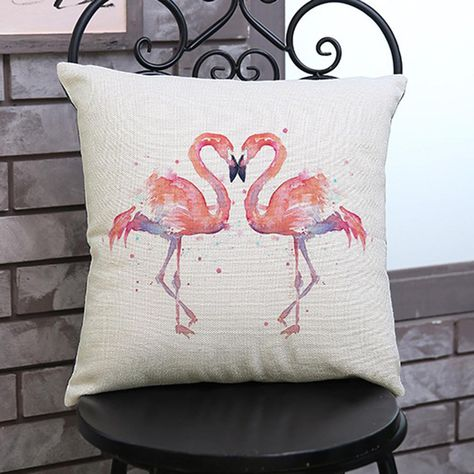 45*45cm 4 Style Cushion Cover  Painting Chicken Pillowcase For Sofa Throw