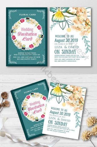 Double Sided Floral Wedding Invitation Cards Psd Free Download Pikbest Wedding Invitation Cards Floral Wedding Invitation Card Wedding Invitation Card Template