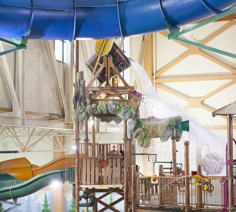 Get SOAKED by the gallon Tipping Bucket at Great Wolf Lodge Indoor Waterpark Resort.