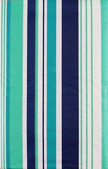 Summer Fun Beach Stripes Purple Teal And Green With Zipper Umbrella Hole Vinyl Flannel Back Tablecloth 70round Mul Table Cloth Beach Fun Outdoor Tablecloth