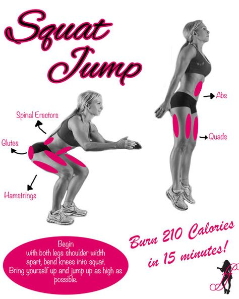 Great graph and demonstration of a squat jump! Check out how much you can burn!