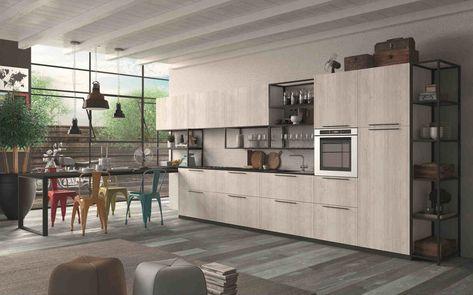 Tavolo Con Sedie Colorate.Cucine In Stile Industriale 5 Modelli Stile Industriale