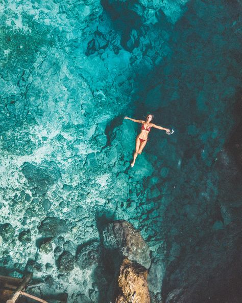 Swimming in Hoyo Azul Blue Hole Dominican Republic Clear Blue Water in Punta Cana Tropical Paradise Beach Getaways in the Islands Near North America Summer Vibes, Famous Places In France, Beach Pink, Beach Aesthetic, Photos Voyages, Tropical Beaches, Island Beach, Small Island, Tropical Paradise