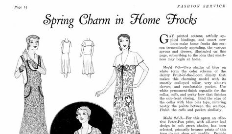 1930s Vintage Fashion Service Magazine Spring, 1930 Fashion & Sewing Patterns - INSTANT DOWNLOAD
