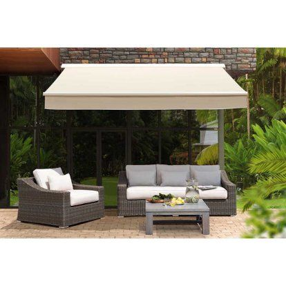 Sunjoy Classic 14 X 10 Ft Retractable Awning Patio Awning Canopy Outdoor Retractable Awning