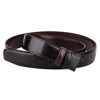 Blue belt strap Mens belts buckle Reversible leather Black Navy CAPO PELLE