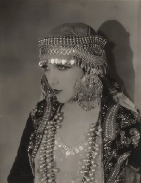 "Actress Jetta Goudal in an unidentified movie from the 1920's. Only two of her films appear to be still available - ""The Coming of Amos"", 1925, and ""Open all Night"", made in 1924."