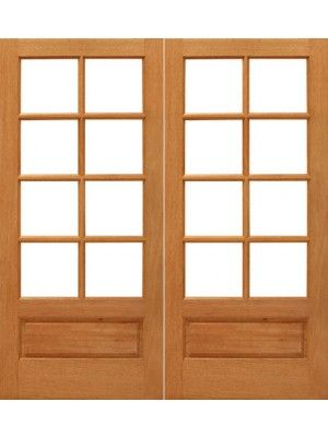 8 Lite French Brazilian Mahogany 1 Panel Ig Glass Double Door In 2020 Entry Doors With Glass Double Doors Exterior French Doors Patio