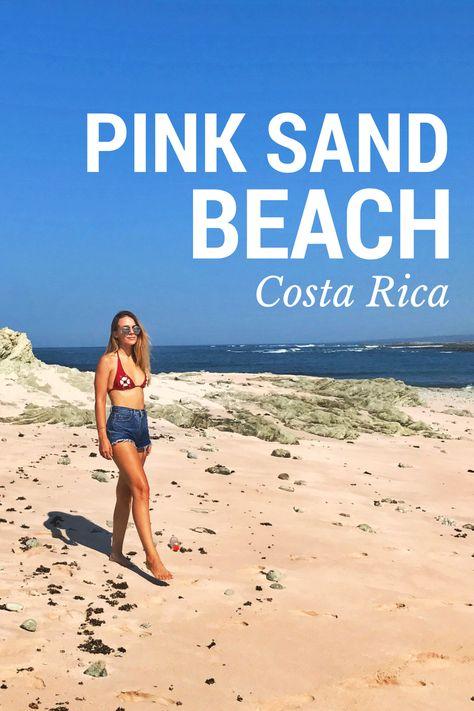 Pink Sand Beach In Costa Rica