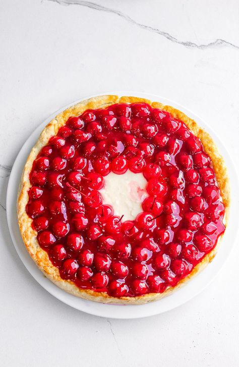 Cherry Cream Pie - Averie Cooks