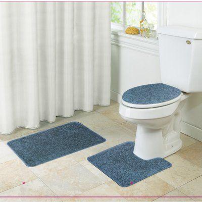 Kashi Home Layla 3 Piece Bath Rug Set Bathroom Rug Sets