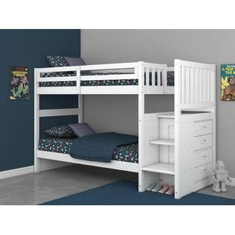 Sandberg Bunk Bed With Trundle In 2020 Bunk Bed With Trundle