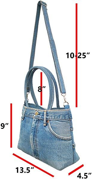 DIY Denim bags from old jeans: 3 easy to make ideas Denim Bags From Jeans, Denim Tote Bags, Denim Handbags, Denim Purse, Denim Bag Patterns, Blue Jean Purses, Handmade Bags, Handmade Leather, Vintage Leather