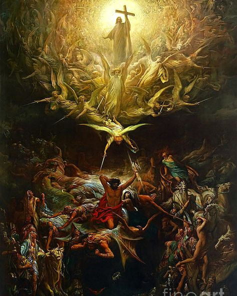 The Triumph Of Christianity Over Paganism Poster by Gustave Dore. All posters are professionally printed, packaged, and shipped within 3 - 4 business days. Choose from multiple sizes and hundreds of frame and mat options.