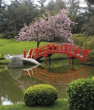 Jardin Japonais Jardin Compans Caffarelli A Toulouse Cerisiers En
