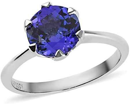 Shop Lc Delivering Joy Rhapsody Solitaire Ring 950 Platinum Round Aaaa Premium Blue Tanzanite Jewelr Tanzanite Solitaire Ring Tanzanite Solitaire Platinum Ring