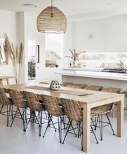Rattan dining chair - natural – HK Living USA