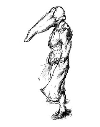 Early Concept Of The Pyramid Head Silent Hill Silent Concept Art