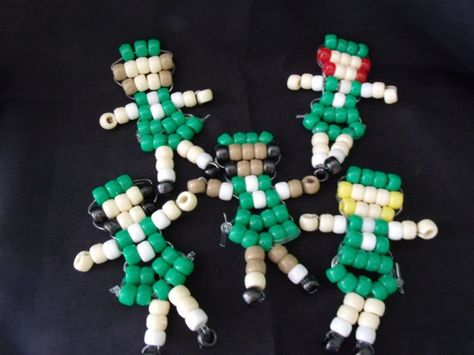 Girl Scouts from pony beads