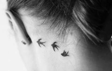 Tattoo Neck Swallow Flying Birds 41 Best Ideas Behind Ear Tattoo Neck Tattoo Bird Tattoo Neck