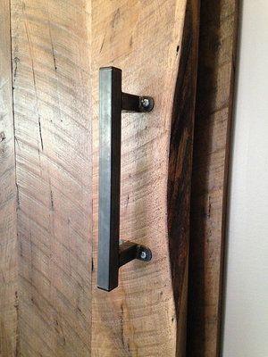 Hunter Industrial Square Handle More Colors Sizes Available Barn Door Handles Door Handles Barn Doors Sliding