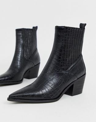 778730a9f1b RAID Rocco black croc western boots in 2019   ASOS Wishlist   Boots ...