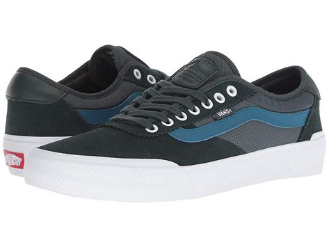 ad99e1f7c9c8 Vans Chima Pro 2 ((Mesh) Darkest Spruce True White) Men s Skate Shoes.  Bring timeless style to the skate park with the unsurpassed cushioning  board feel and ...