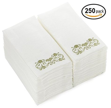 Linen Feel Guest Towels 250 Pack Disposable Cloth Like Tissue
