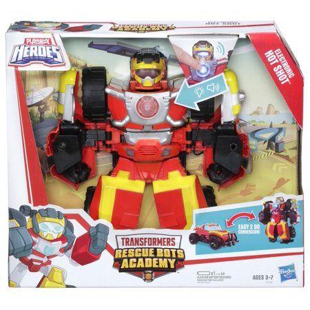 Playskool Heroes Transformers Rescue Bot Academy Hot Shot Power Badge Walmart Com Transformers Rescue Bots Rescue Bots Transformers