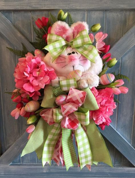 SPRING EASTER HOT PINK  WREATH SWAG GIFT BASKET 5 YARDS RIBBON UNCUT FOR BOWS+