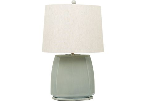 403b0a2c3e8 Forty West Fiona Distressed Blue One-Light Table Lamp