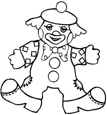 circus clown coloring pages - circus preschool theme on pinterest clowns coloring