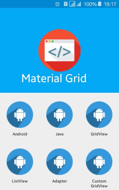 Android Material Design Gridview