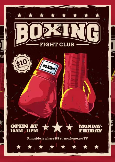 Boxing Flyer By Aqrstudio On Flyer Template Flyer Design