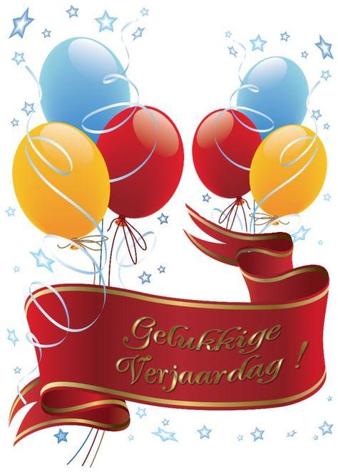 Gelukkige Verjaardag Ballons Birthday Clipart Cards 1 Pinterest