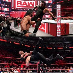 Image May Contain 2 People Monday Raw Aj Styles Reign