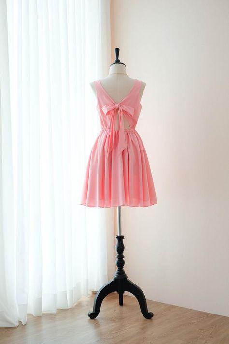 e5537389bdc0 Pink dress Pink Bridesmaid dress Prom dress Lolita Wedding Party dress  Bridal party Cocktail Formal
