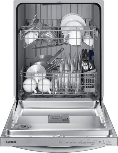 Samsung 24 Top Control Built In Dishwasher Stainless Steel Dw80r2031us Best Buy Built In Dishwasher Samsung Stainless Steel Stainless Steel Doors