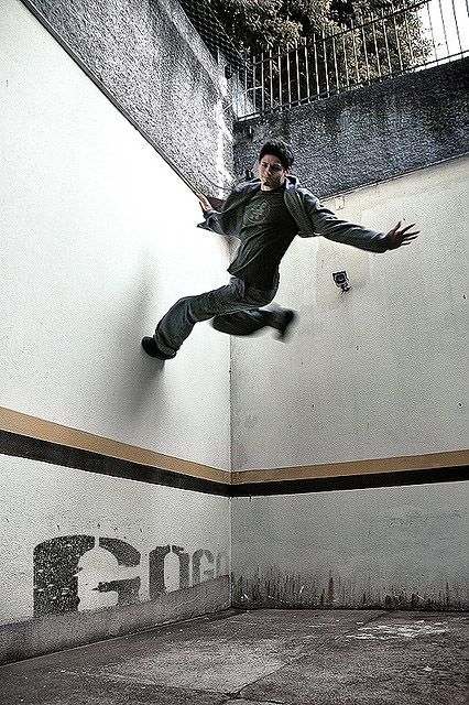 Parkour - if you're flying, you aren't falling