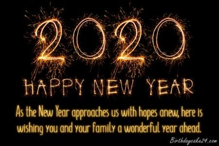 Happy New Year 2020 Cards With Name Edit New Year Wishes Quotes About New Year Happy New Year Wishes