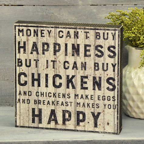 """The warmth and honesty of the American farmhouse style is the perfect setting for this primitive sign.This vintage inspired box sign will look great in a country kitchen or farmhouse keeping room.A distressed black frame surrounds the painted stencilled sign that features a clever ditty. 10""""W x 10""""H x1.75""""D"""
