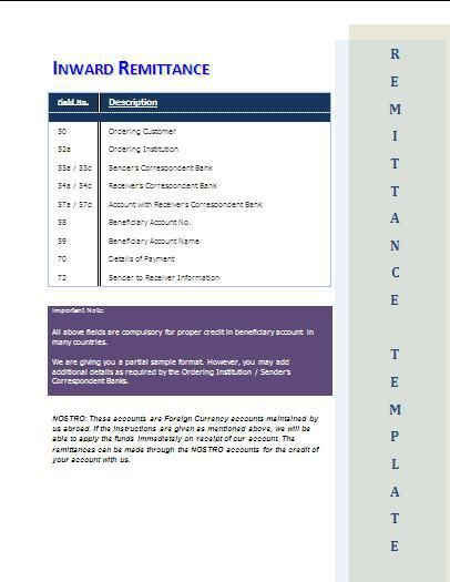 Remittance Advice Template Word Template Templates Word Design