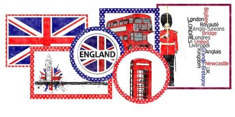 Etiquettes Angleterre Etiquettes Angleterre Scrapbooking Voyage