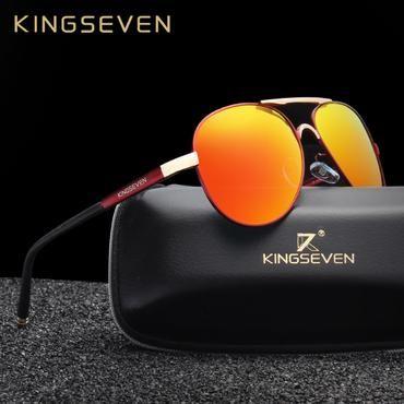 Sun Glasses Women For Men Unisex Classic Men Aluminum Sunglasses Polarized Mirror Male Red